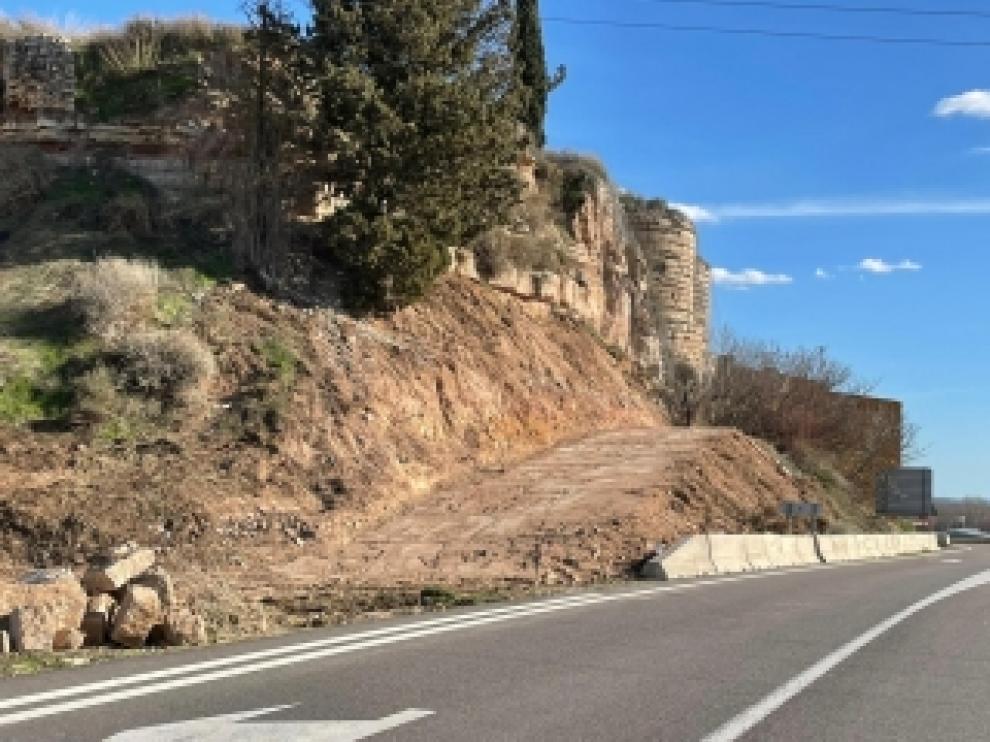 Carretera A-1234 a su paso por Zaidín