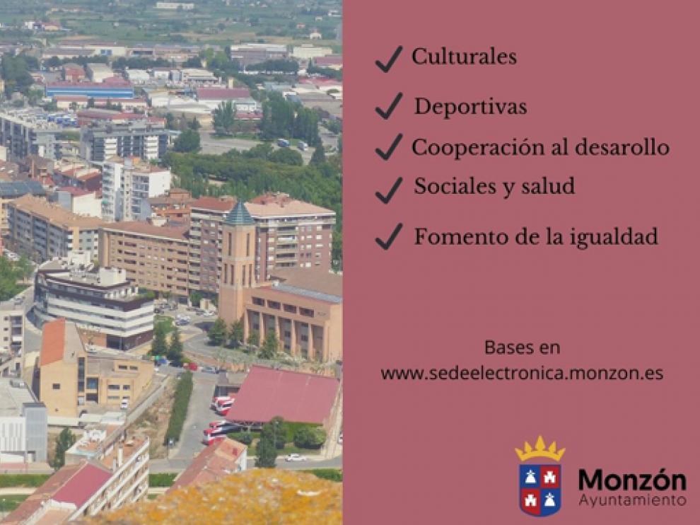 El ayuntamiento de Monzón convoca subvenciones para asociaciones