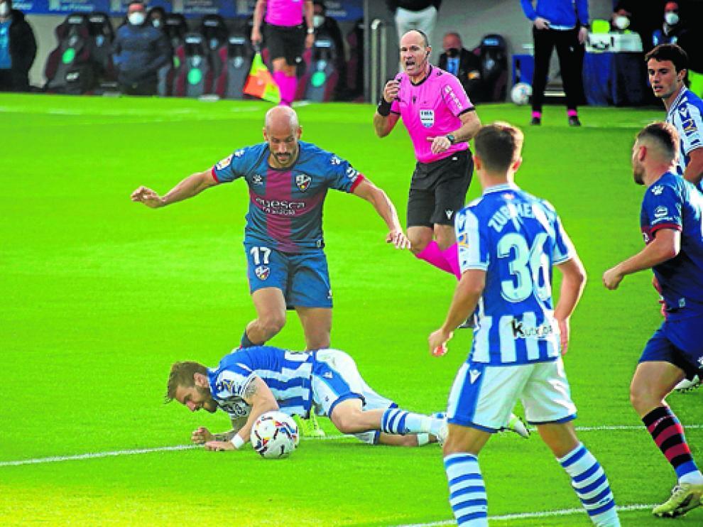 El Huesca no había vencido a la Real Sociedad en competición oficial hasta este sábado.