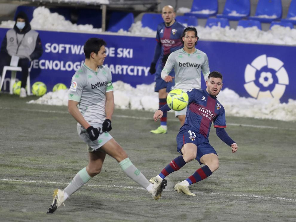 Imagen del partido de ida entre Huesca y Betis.