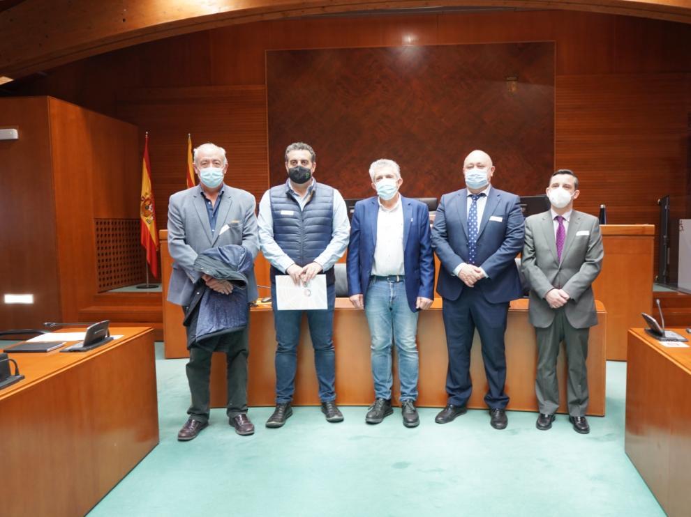 Miembros de Agrica Aragón, en la Comisión de Comparecencias Ciudadanas.