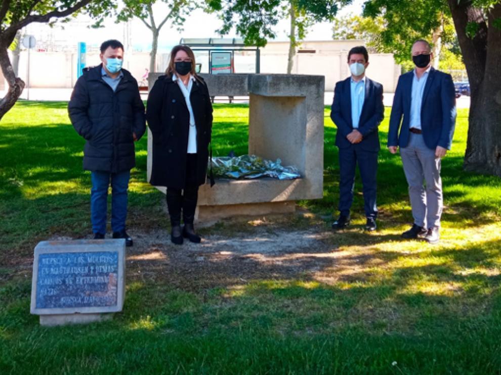 Homenaje a las víctimas el holocausto nazi en Mathaussen