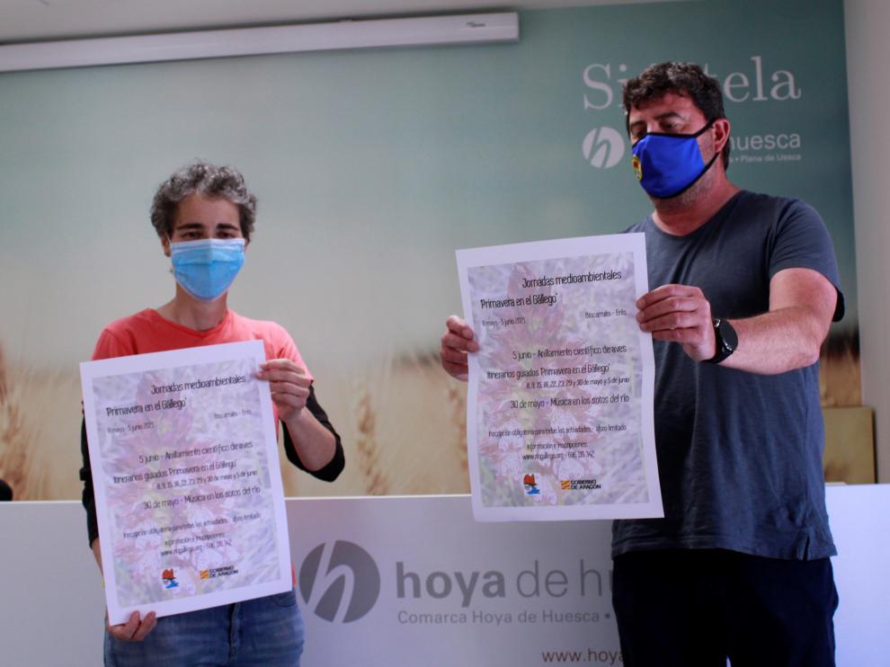 Lola Giménez y Pablo Valles, en la presentación de las jornadas.