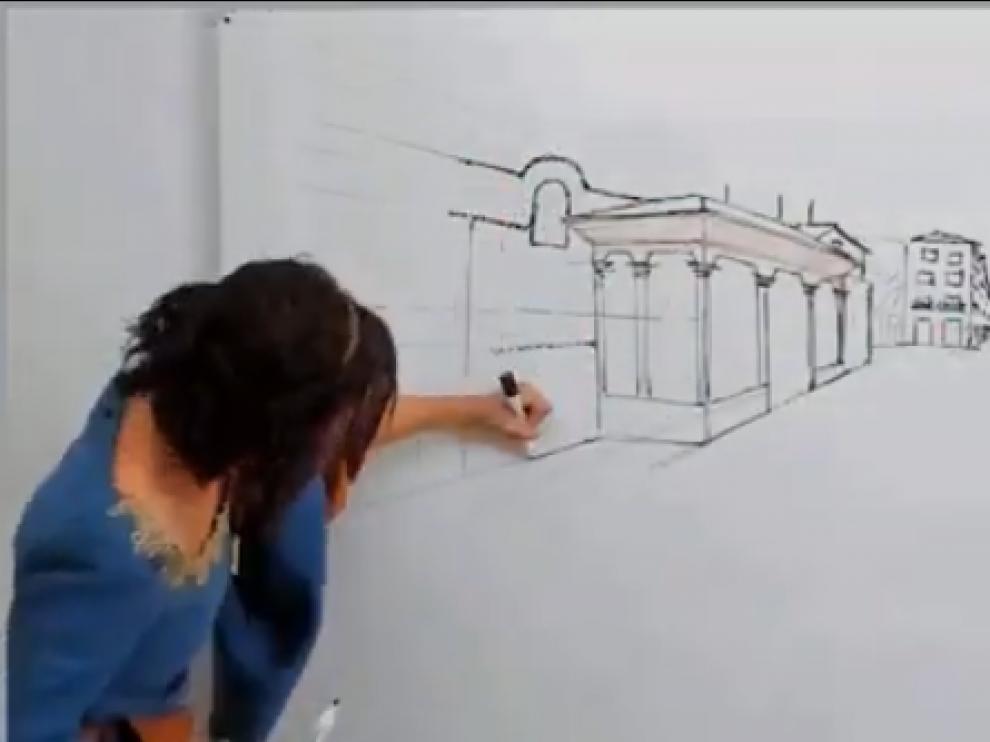 Una imagen del vídeo con Aída de protagonista.