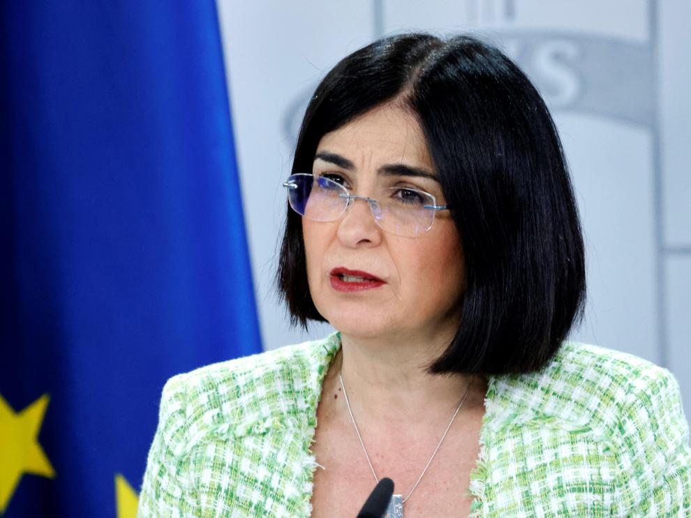 Carolina Darias, en la rueda de prensa tras la reunión del Consejo Interterritorial de Salud