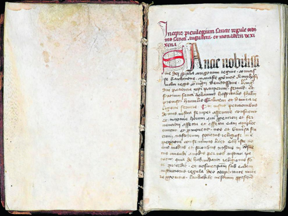 El códice es un manuscrito en latín de 187 hojas, muy importante para saber la historia del monasterio