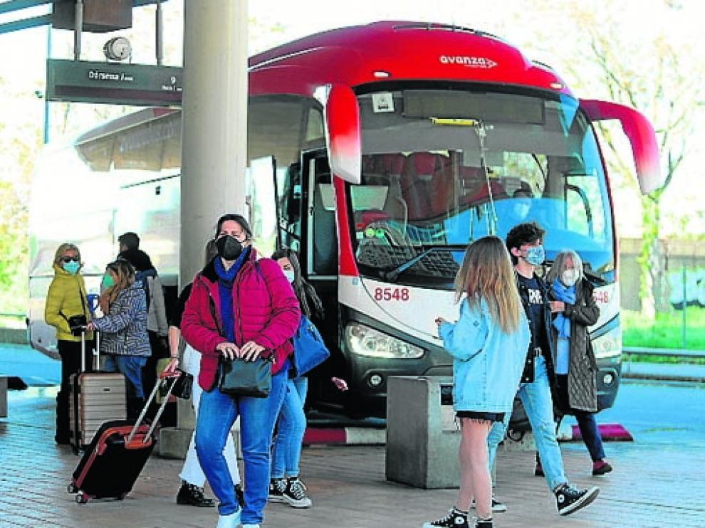 Imagen de la Estación de Autobuses de Huesca.