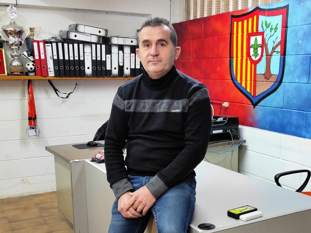 José Miguel Martínez, presidente de la UD Fraga