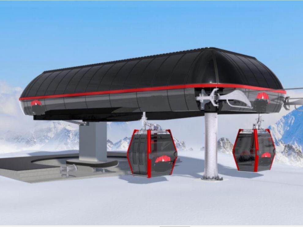 Imagen del proyecto para la nueva telecabina.