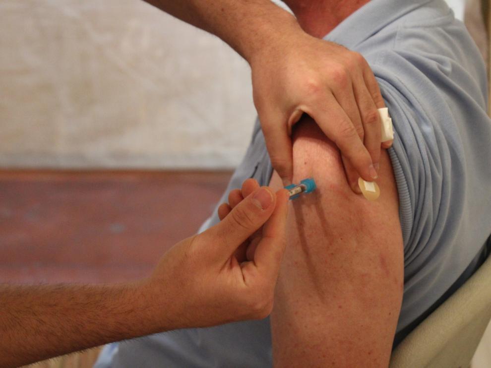 Vacunación este jueves en Huesca.