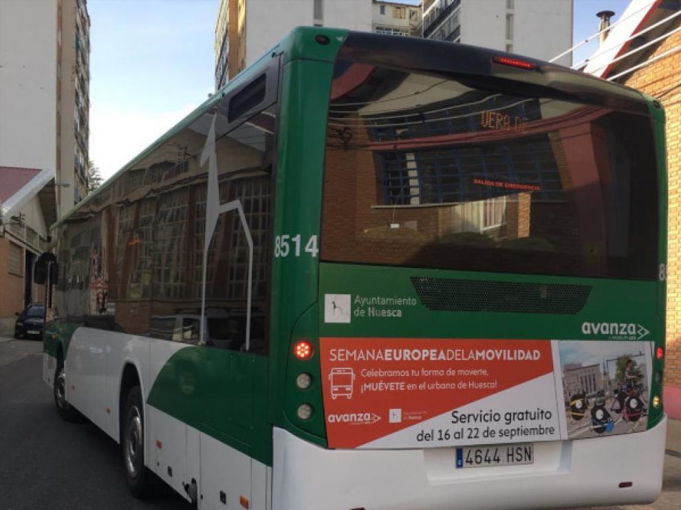 Trasporte urbano colectivo en Huesca