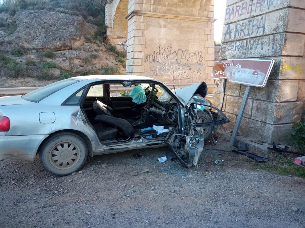 Estado en el que ha quedado el vehículo después de la colisión.