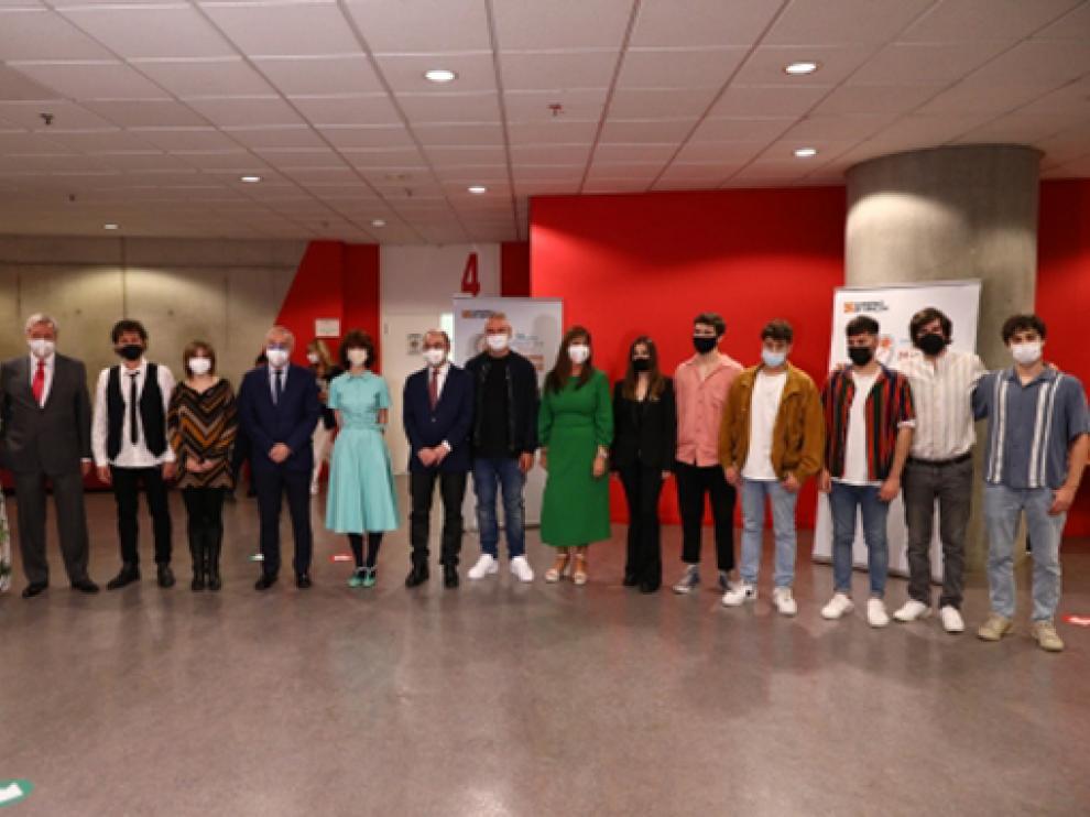 Imagen del acto celebrado en Zaragoza