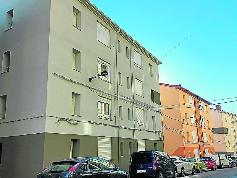 Finalizadas las obras de los bloques de viviendas del Grupo Bilbao en la calle Coli Escalona de Sabiñánigo.