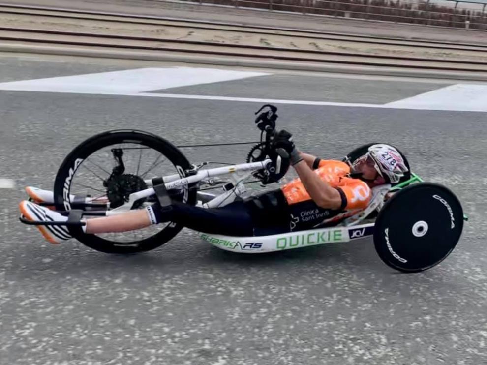 Diego Ballesteros, durante la carrera en Ostende.