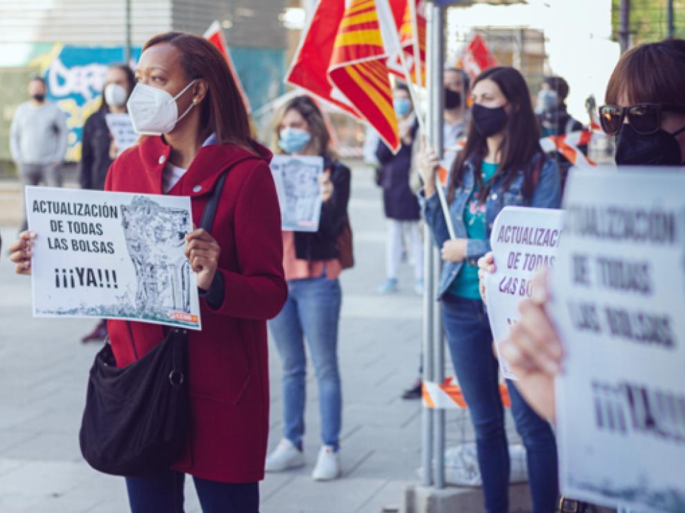 Concentración de afectados este lunes en Zaragoza