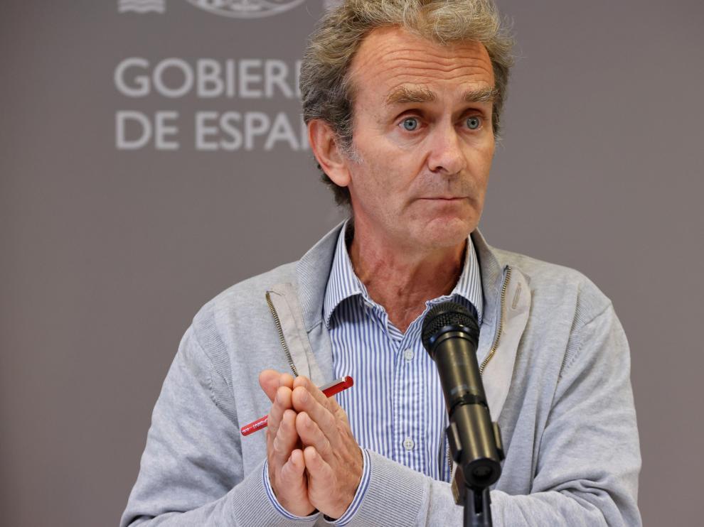 Fernando Simón durante la rueda de prensa.