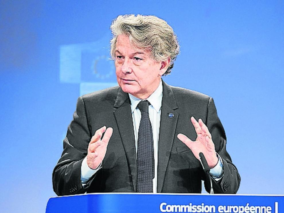 Imagen de archivo de Thierry Breton durante una de sus comparecencias.