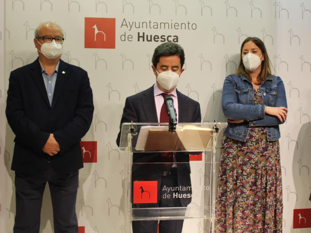 El alcalde de Huesca, Luis Felipe, este lunes.