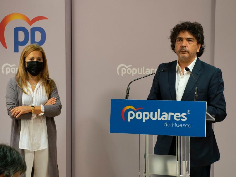 Ana Alós y Mario Garcés este lunes.