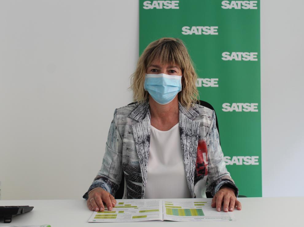 María Cruz Oliván es secretaria de SATSE Huesca.