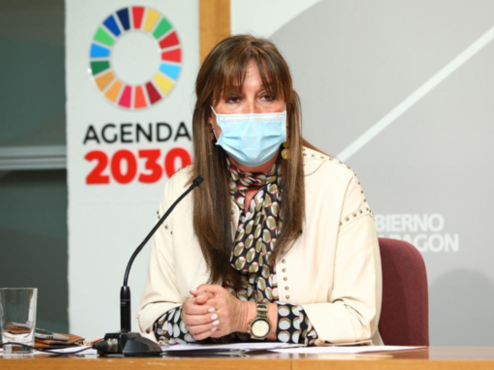 Sira Repollés, consejera de Sanidad, en una de sus últimas comparecencias.