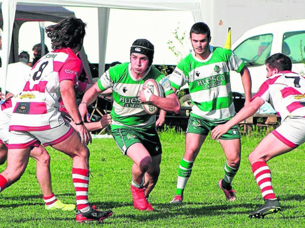 El Huesca Rugby logró un triunfo rotundo en Monzón.