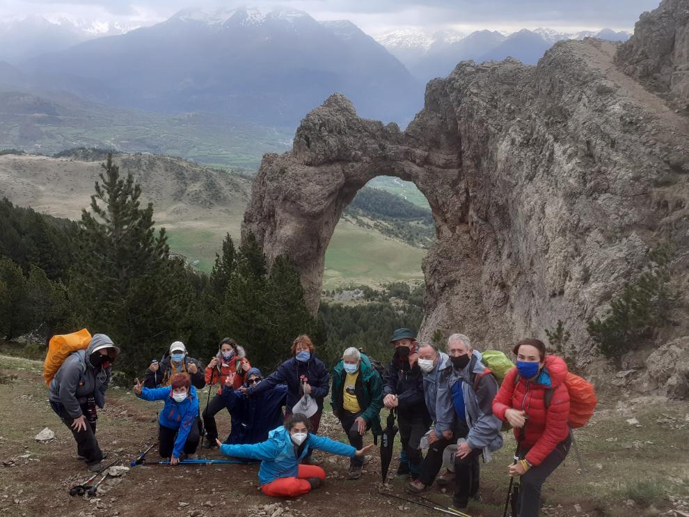 El grupo de Turismo por el Alto Aragón de Peña Guara realizó una actividad prevista desde hace meses.