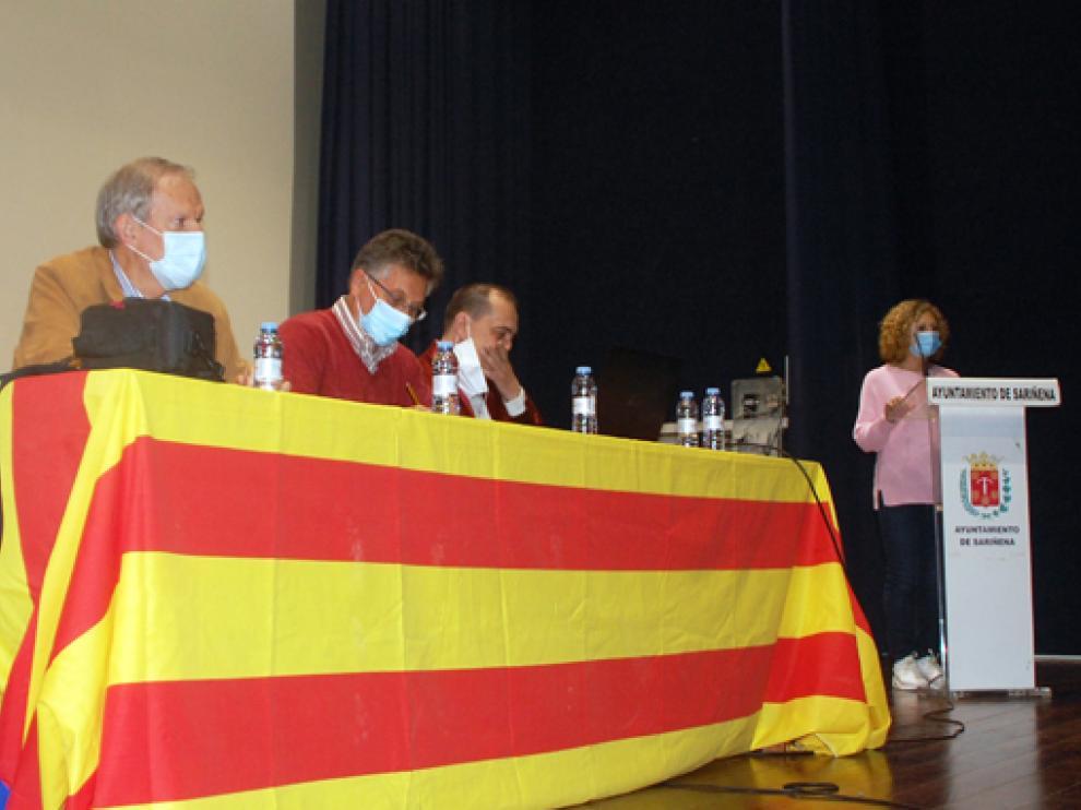 Adell, García, Trallero y Mazuque, en el acto de presentación del libro.