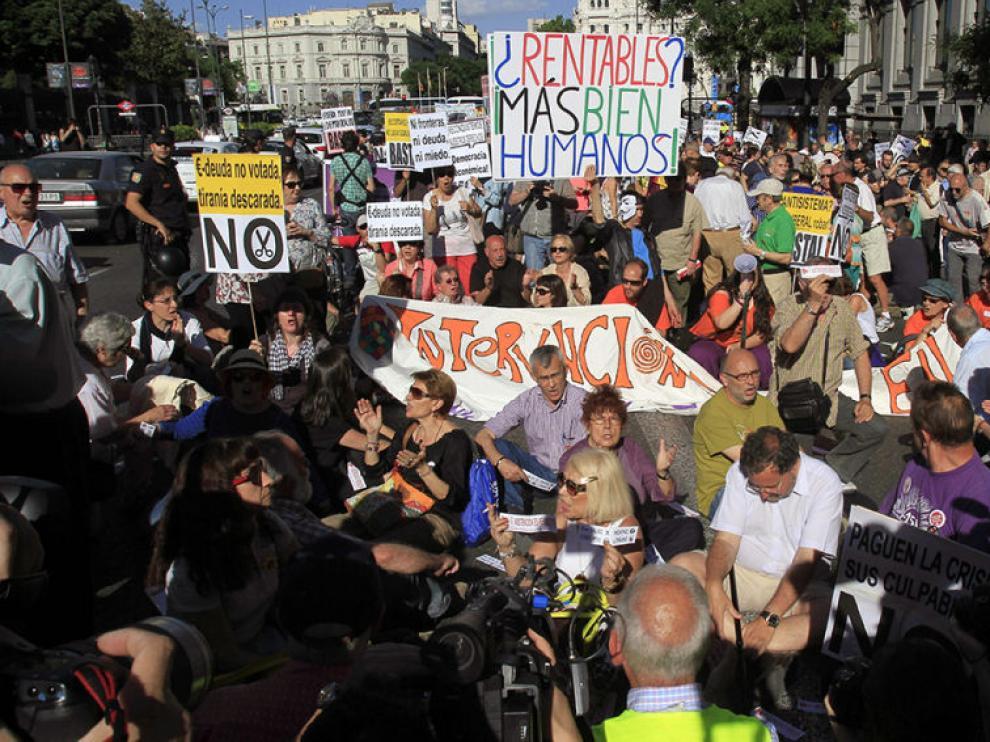 El movimiento 15M supuso una marea por todo el país hace diez años