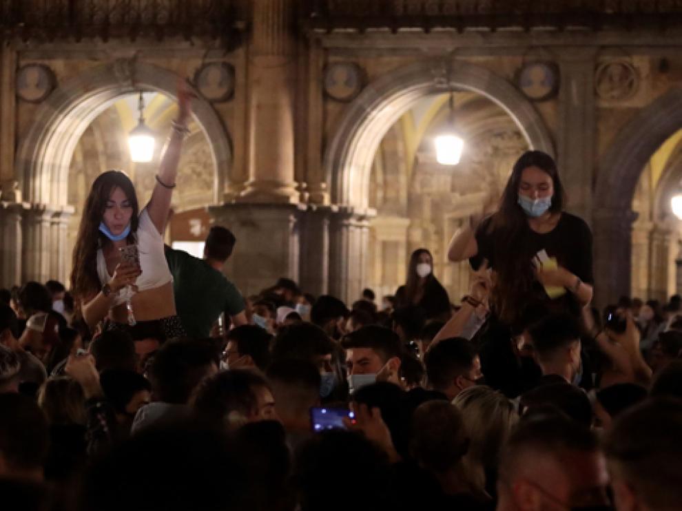 Imagen de la Plaza Mayor de Salamanca tras el fin del estado de alarma.