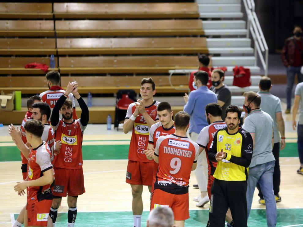 Empate en el Palacio de los Deportes de Huesca.