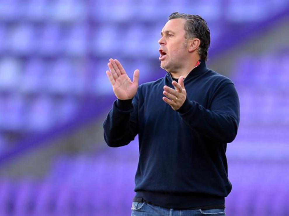 Sergio González, entrenador del Valladolid, durante el partido ante el Villarreal.