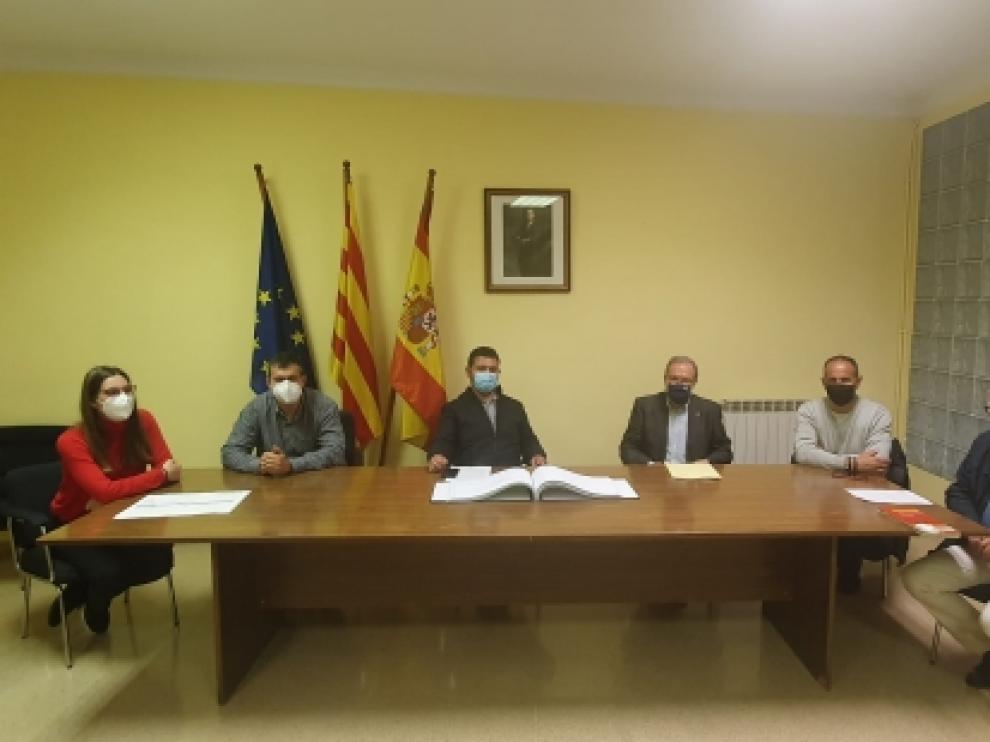 El Gobierno de Aragón, la DPH y el Ayuntamiento de Castillonroy reunidos esta semana