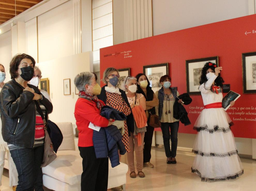 Así ha transcurrido la visita temática en el Museo de Huesca.