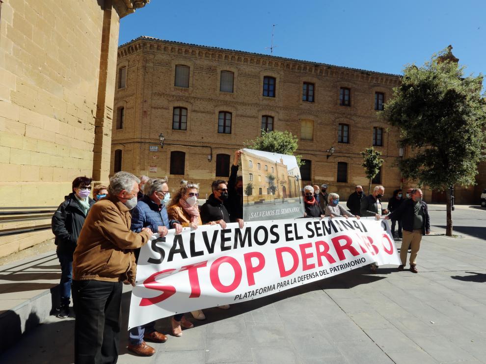 Acto reciente por la conservación integral del conjunto del antiguo Seminario de Huesca.