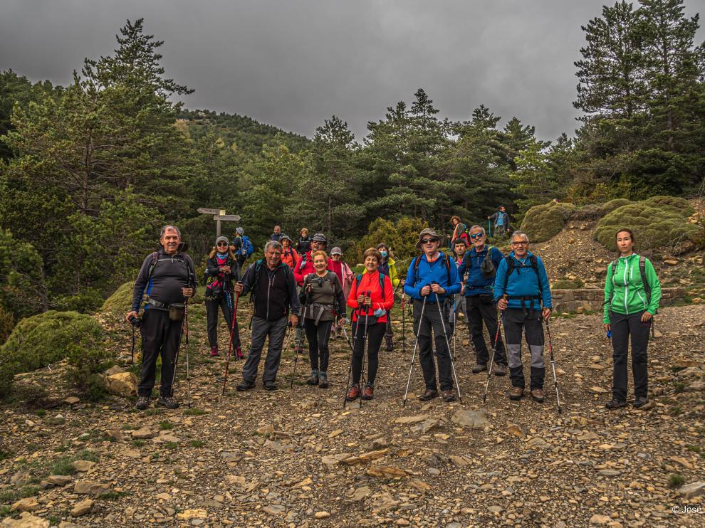 El grupo de excursionistas del pasado domingo en la zona del Turbón