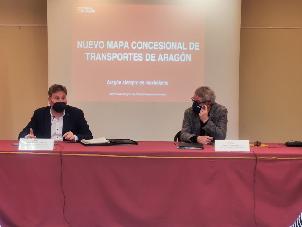 José Luis Soro y Gregorio Briz, este miércoles en rueda de prensa.