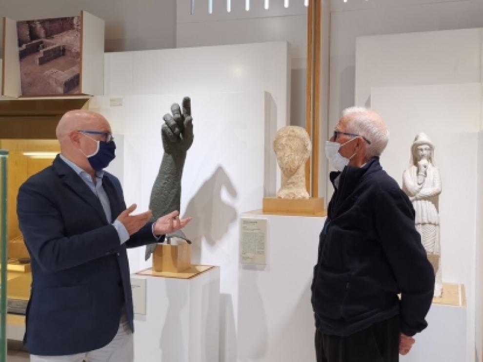 La pieza ha sido depositada en el museo por Luis Rabal, en cuyo terreno fue descubierta