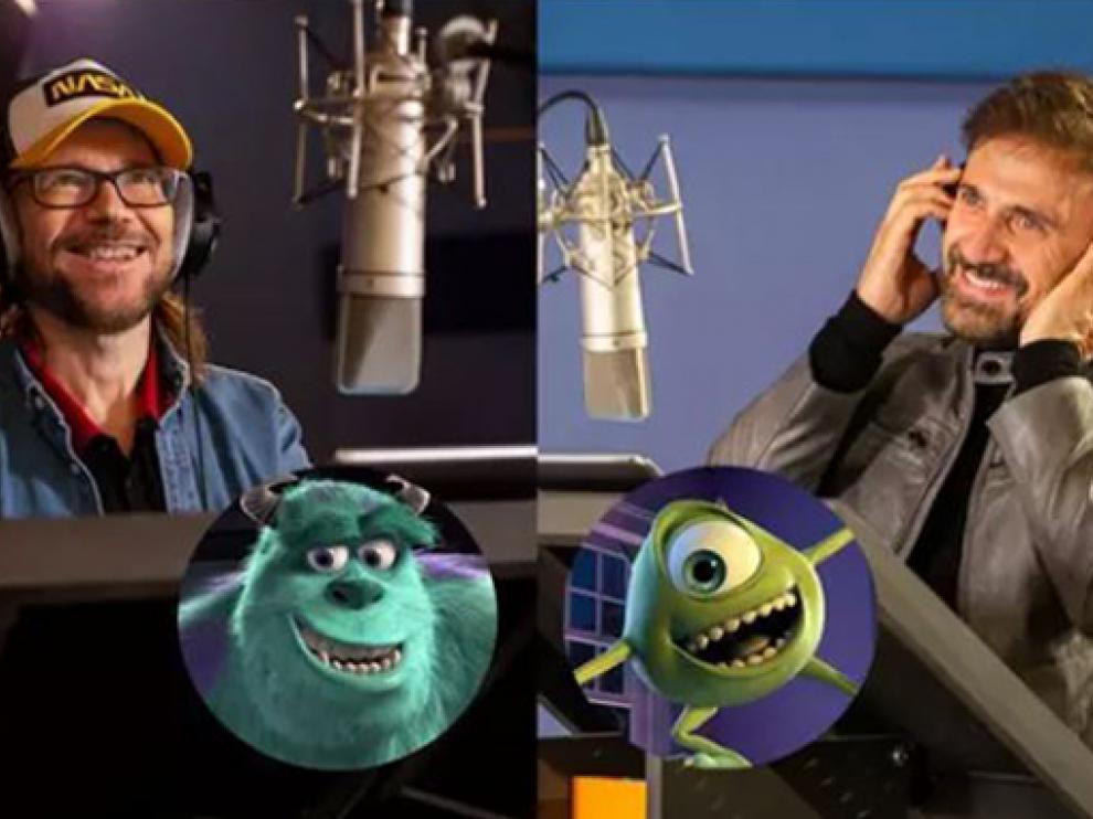 Santiago Segura y José Mota vuelven a poner voz a Mike y Sulley en Monstruos a la obra.