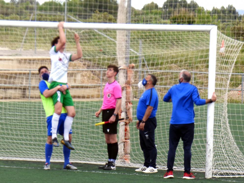 Imagen tomada en el partido de fútbol Peña Ferranca y Peñas Oscenses