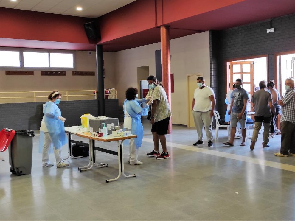 Vacunación en Torrente de Cinca.