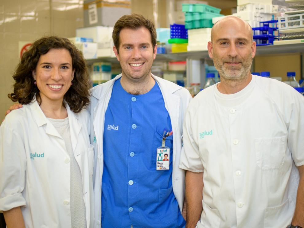 De izquierda a derecha, Marta Gascón, Diego Casas y José Miguel Arbonés