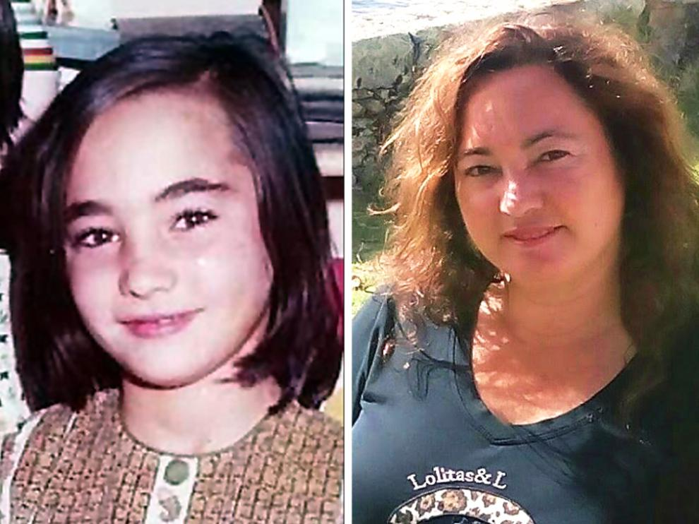 Isabel Corral de niña y en la actualidad