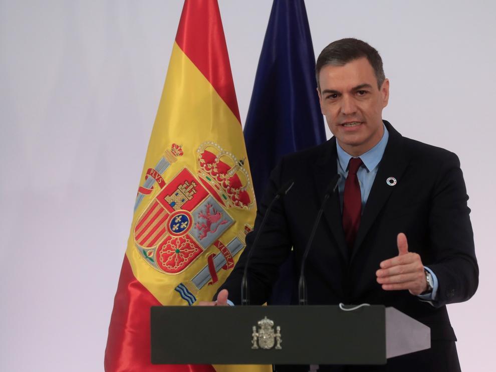 Sánchez durante la presentación del plan.