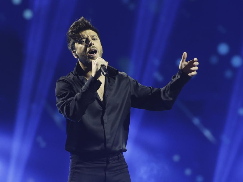 Blas Cantó durante su actuación.
