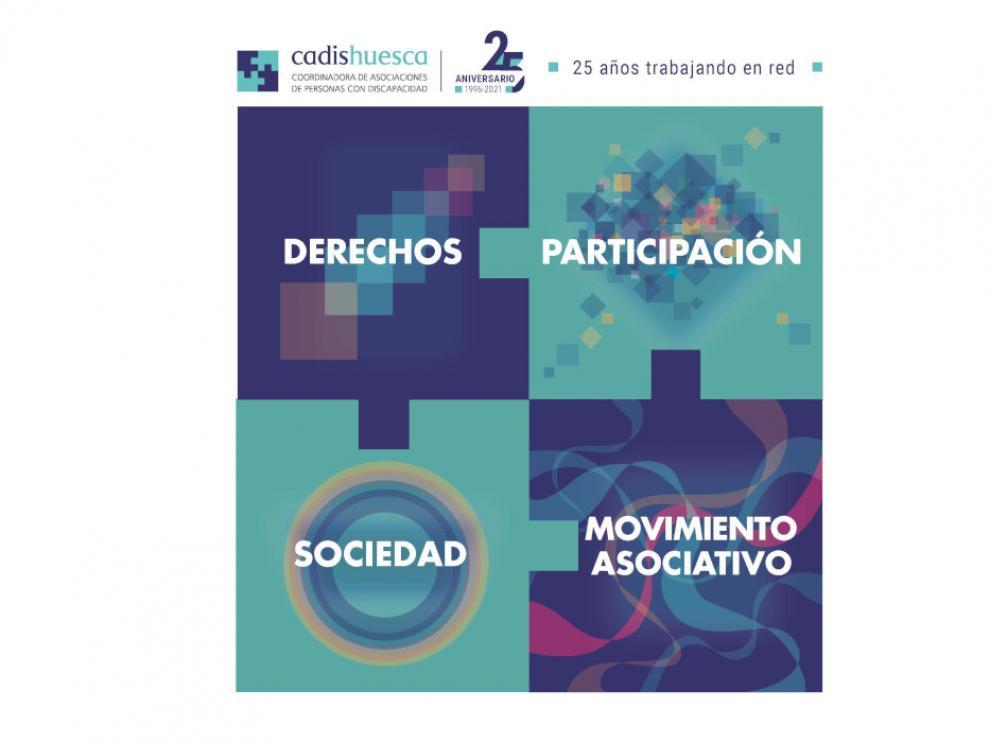 Los derechos, la participación social, el reconocimiento y el movimiento asociativa son los ejes sobre los que se asienta este aniversario.