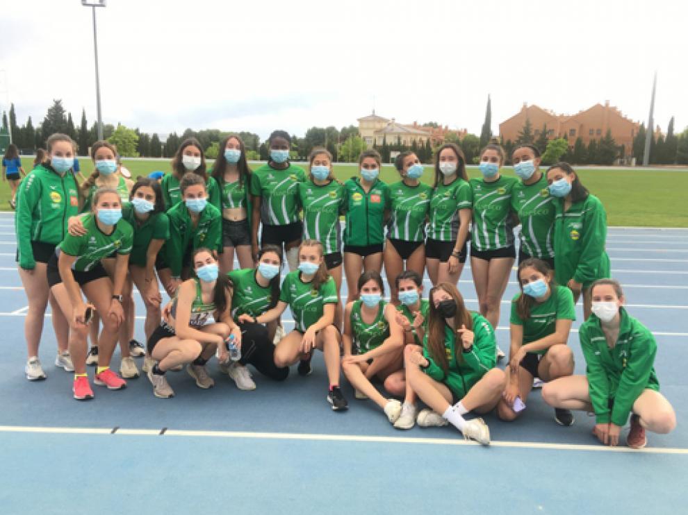 Equipo femenino de Intec-Zoiti que compitió en Albacete a gran nivel.