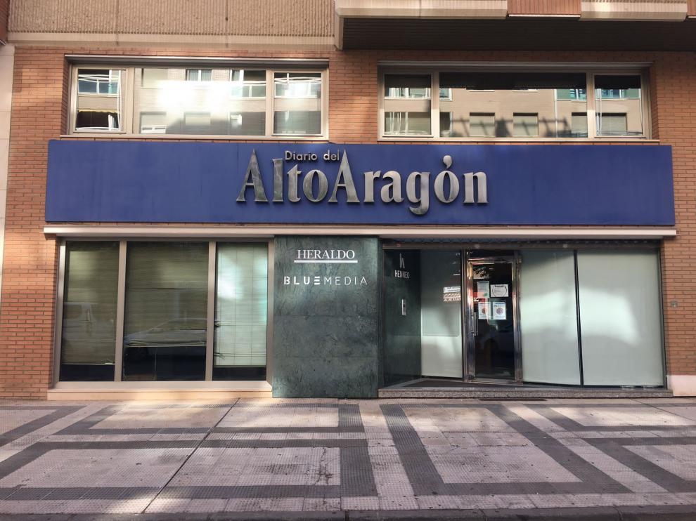 Exterior de la sede de Diario del Altoaragón en Huesca