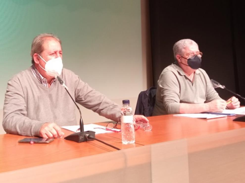 Eduardo Puente y Juanjo Cuenca, presidente y secretario respectivamente de la junta gestora
